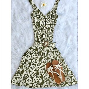 Laundry Vintage floral belted dress size XS